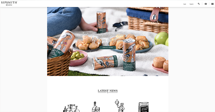 Homepage gin
